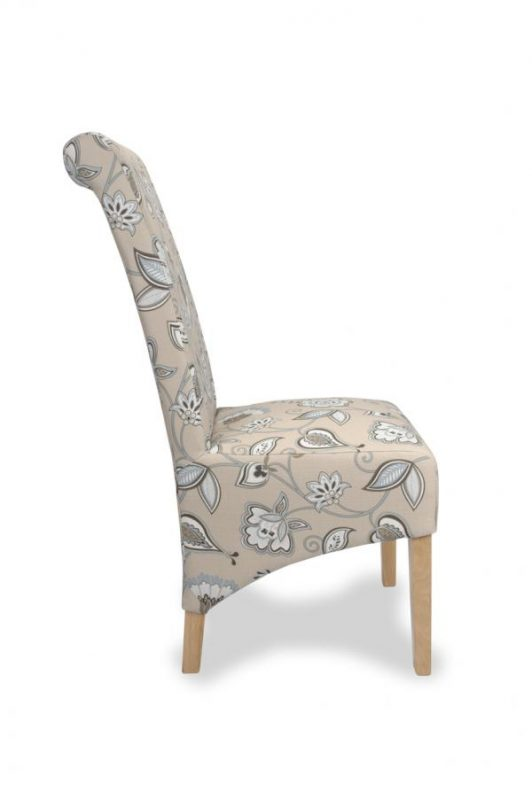 Krista Deco Fabric Duck Egg Blue Dining Chairs 1