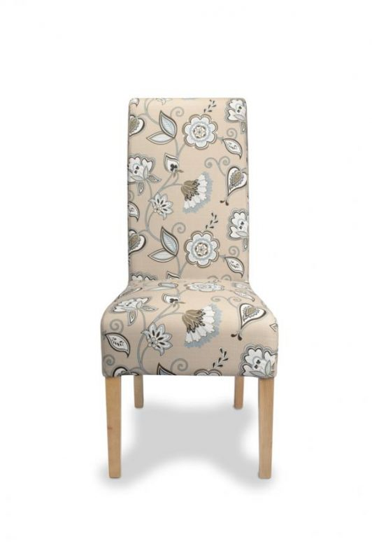 Krista Deco Fabric Duck Egg Blue Dining Chairs 2