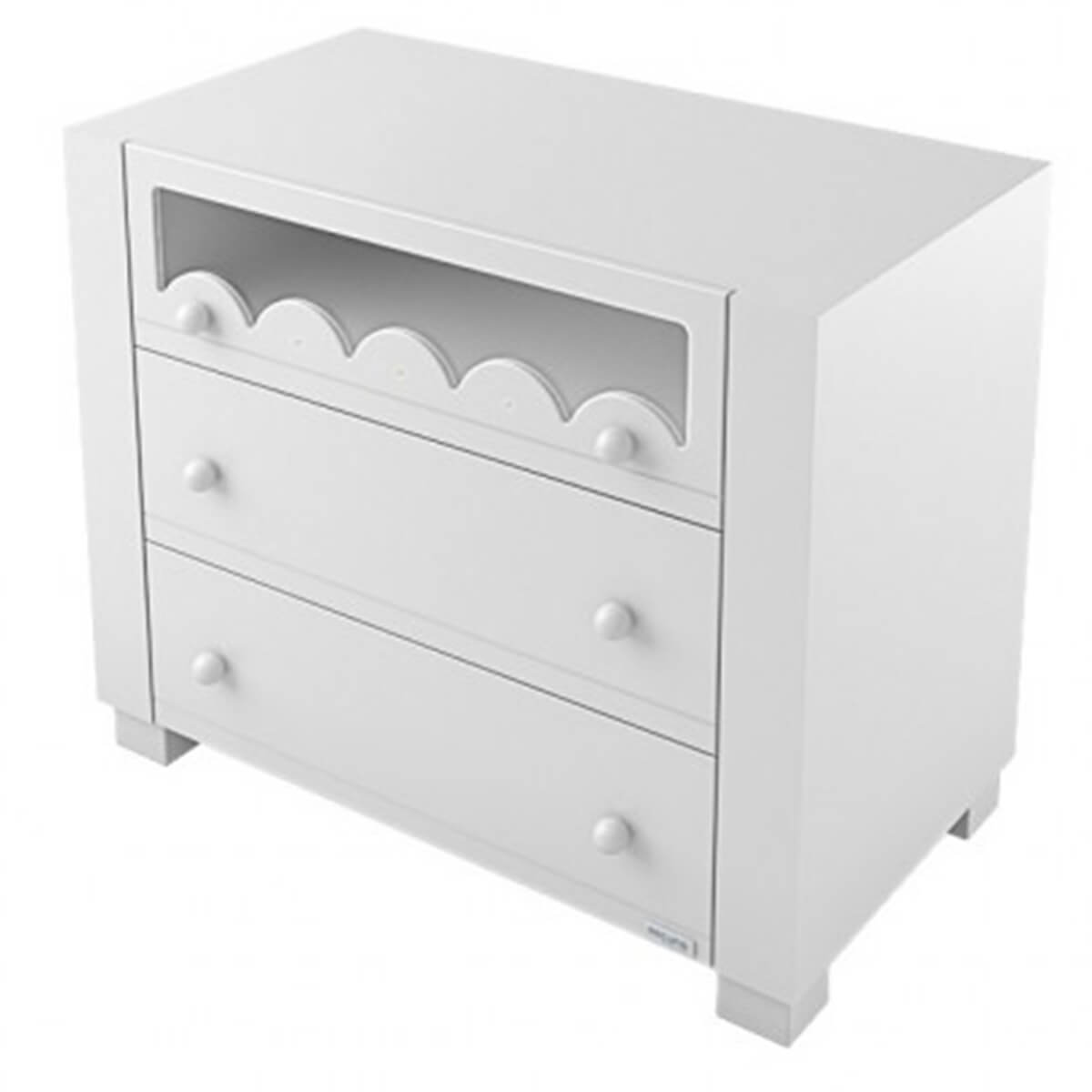 Lapsi Amelia Aran Chest of Drawers With Swarovski Crystals White