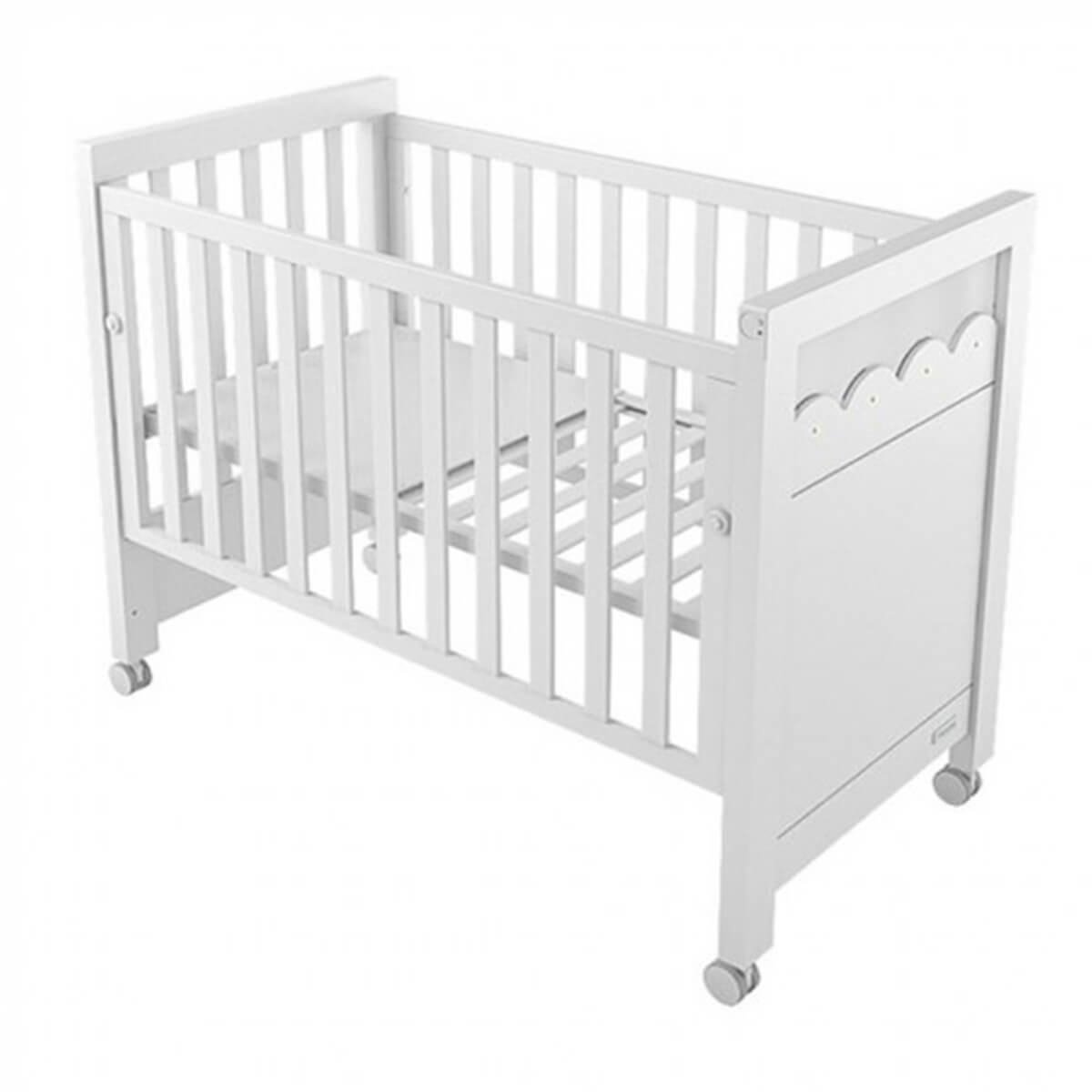 Lapsi Amelia Aran Cot Bed With Swarovski Crystals White