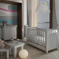 Lapsi Amelia Aran Cot Bed With Swarovski Crystals White 4