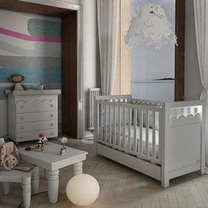 Lapsi Amelia Aran Cot Bed With Swarovski Crystals White 4