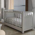 Lapsi Amelia Aran Cot Bed With Swarovski Crystals White 5