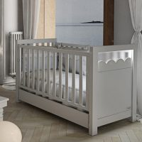 Lapsi Amelia Aran Cot Bed With Swarovski Crystals White 5