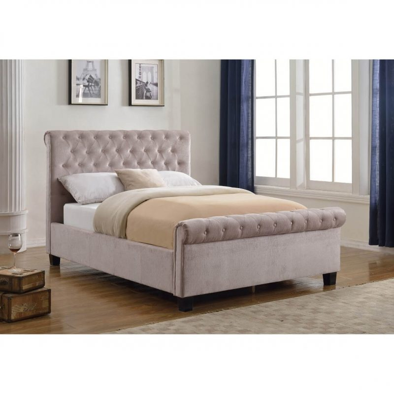 Lily Mink Chenille Fabric Bed 1