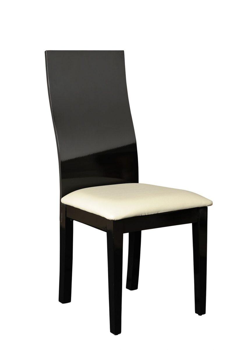 Logan Dining Set 4 to 6 Seater Black High Gloss Chair