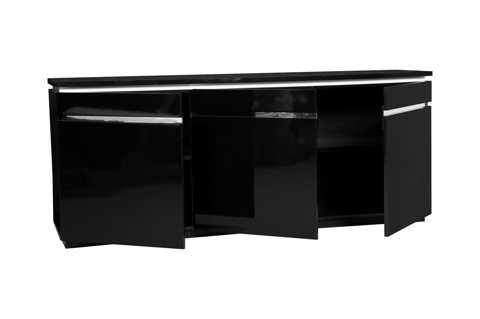 logan modern black sideboard high gloss lights sideboards fads. Black Bedroom Furniture Sets. Home Design Ideas