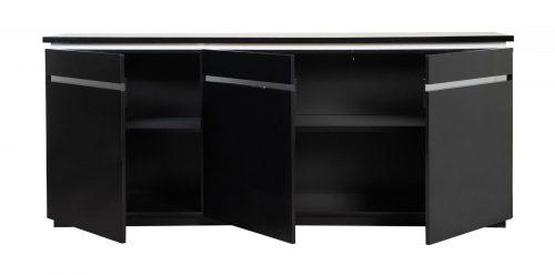 Logan High Gloss Modern Black Sideboard 5