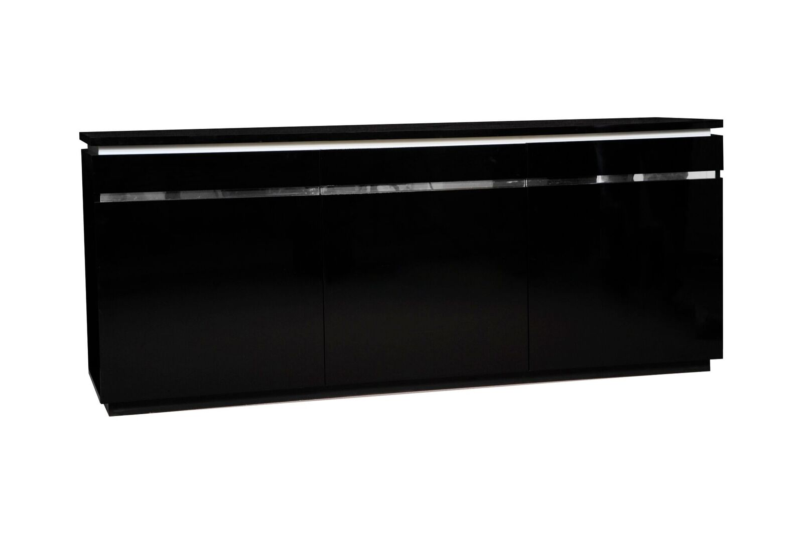 Logan Modern Black Sideboard High Gloss Amp Lights