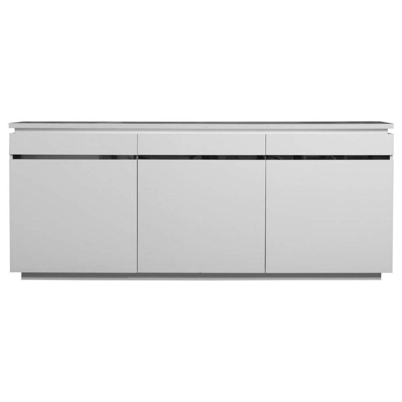 Logan Sideboard White High Gloss 3 Door with Lights