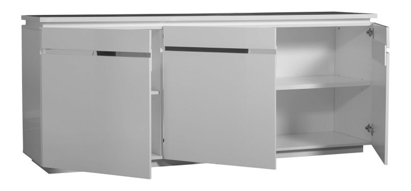Logan Sideboard White High Gloss 2