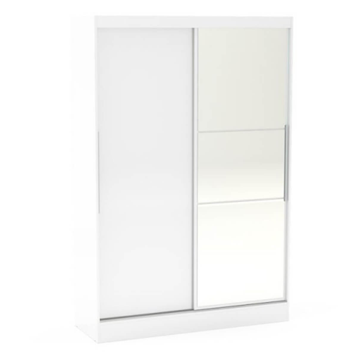 Lynx White High Gloss Wardrobe With Mirrored Sliding Door Fads