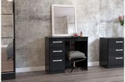 Lynx High Gloss Black Dressing Table