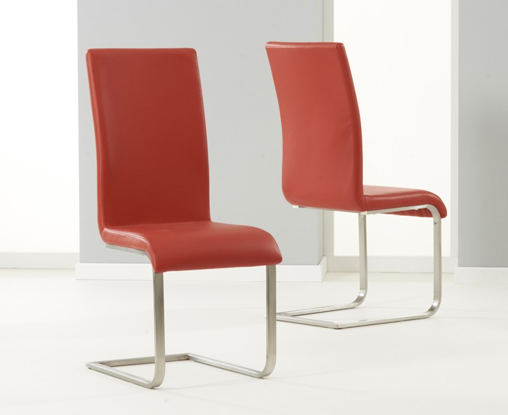 Marila Dining Set with Multi Coloured Chairs Red