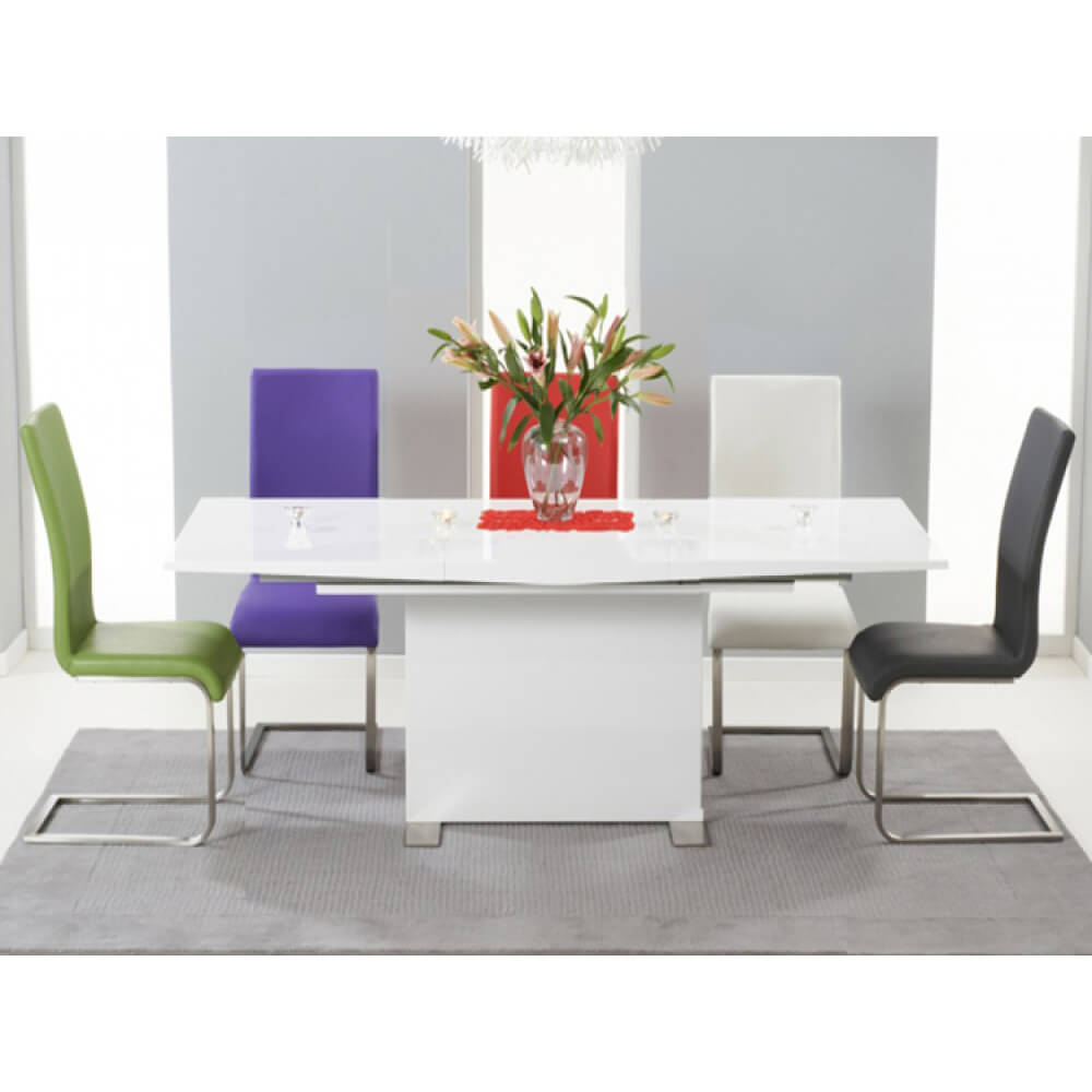 Marila Dining Set with Multi Coloured Chairs