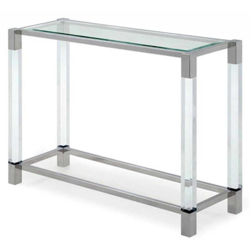 Mayfair Console Table Clear Glass