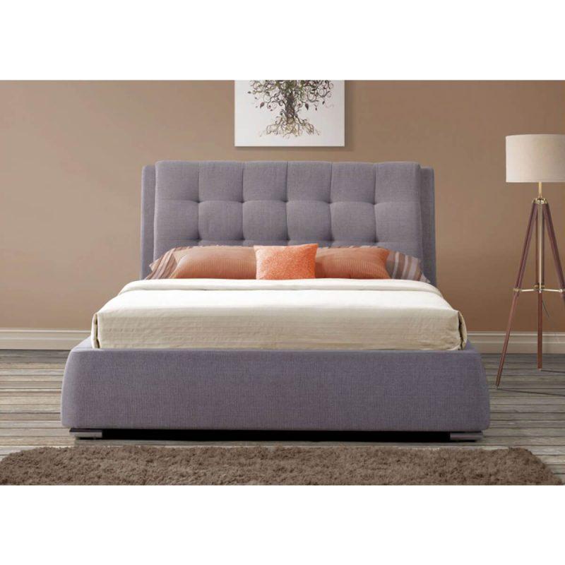 Mayfair Storage Drawer Bed Frame Textured Fabric Grey 3