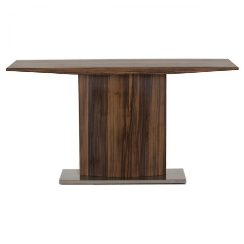 Messina Console Table Walnut & Stainless Steel