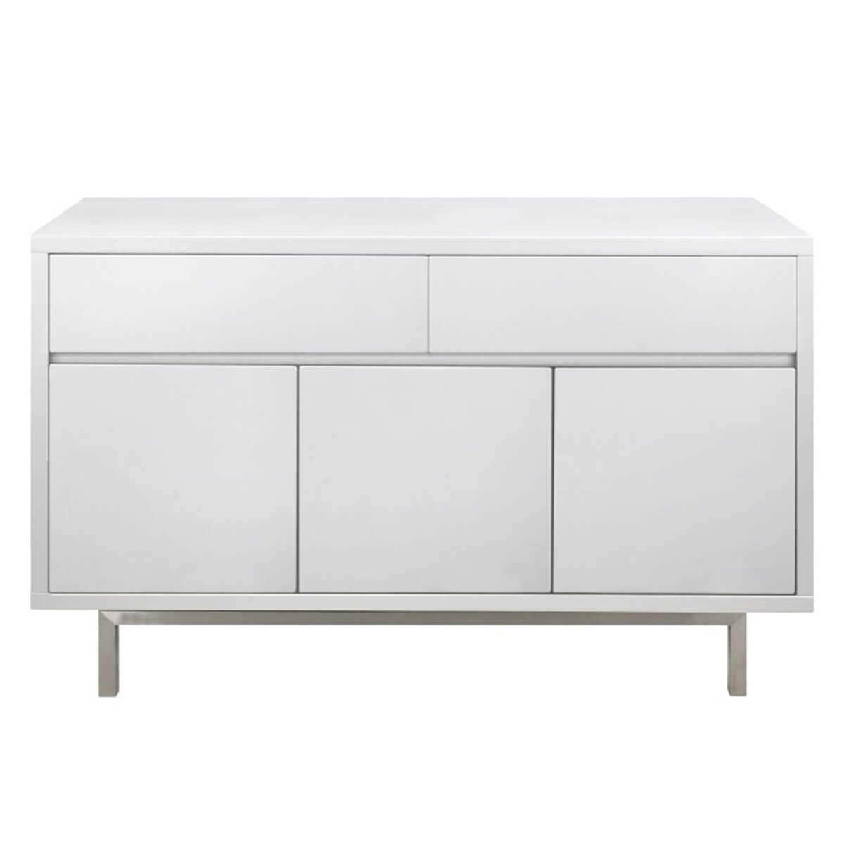 Miami White High Gloss Sideboard 3 Door 2 Drawer