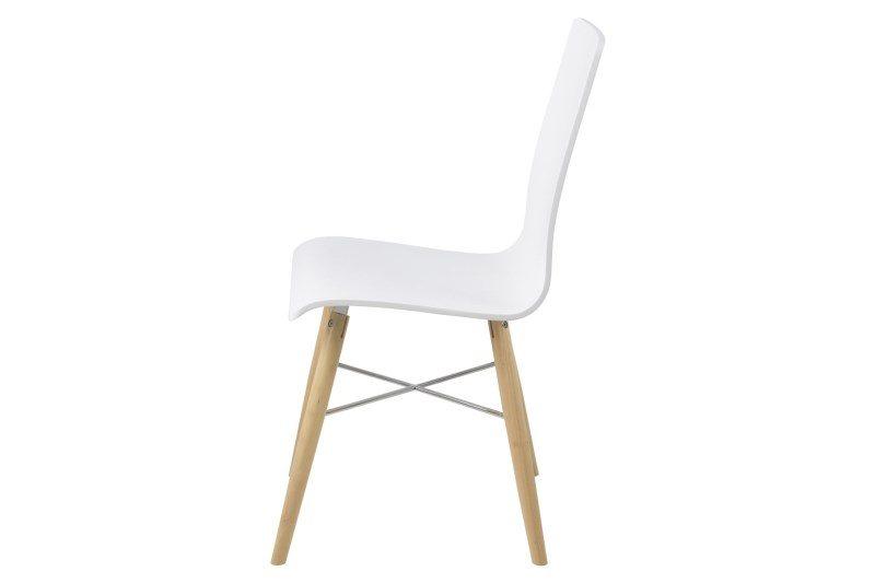Milton Pair of White Eames Style Chairs 2