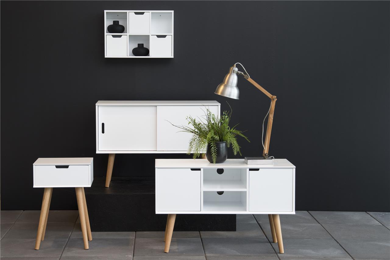 Mitra Scandi Sideboard White & Oak 1