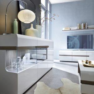 Mode White Gloss & Oak Sideboard 1