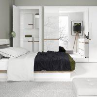 Mode White & Oak Bedside Table 1
