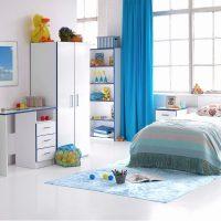 Modern Kiddi Blue Bedside 2