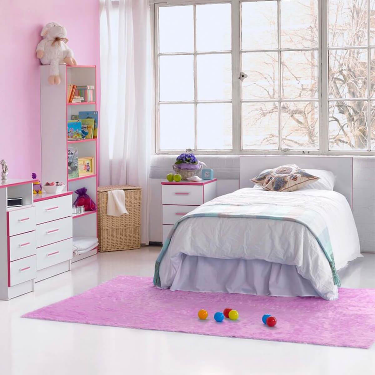 Modern Kiddi Pink Bedside 2