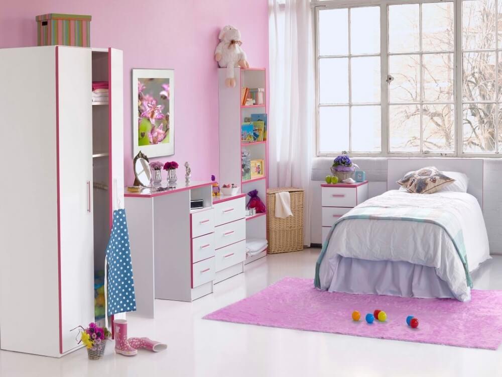 Modern Kiddi White & Pink Wardrobe 2