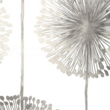 Dandelion Silver Wallpaper