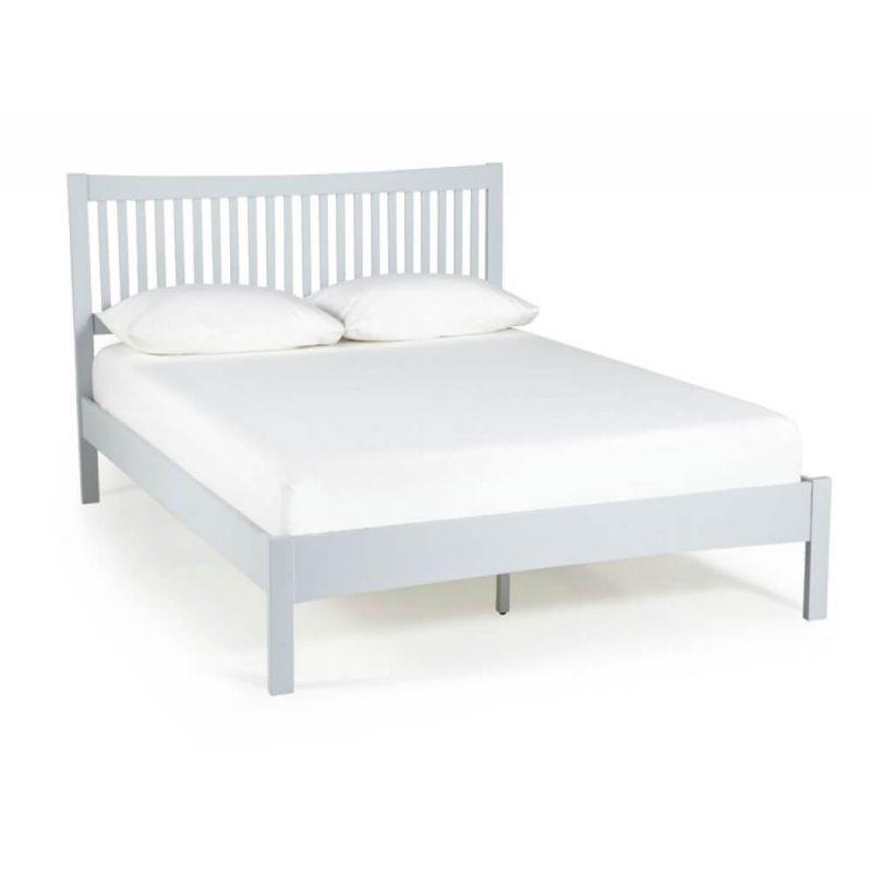Mya Slatted Wooden Bed Frame Grey 1