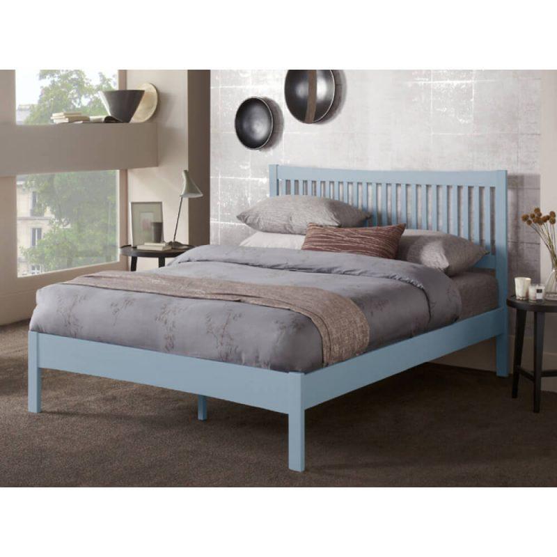 Mya Slatted Wooden Bed Frame Grey 2