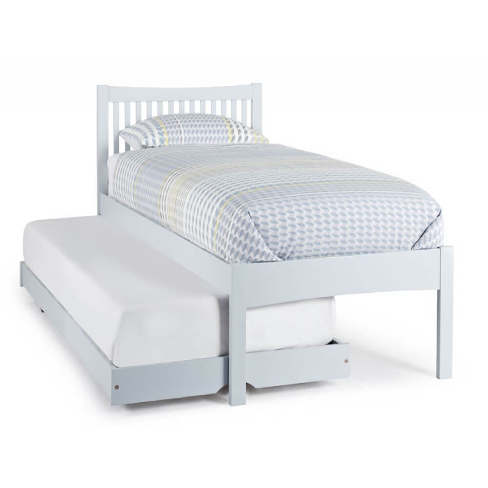 Mya Wooden Bed & Guest Bed Grey 1