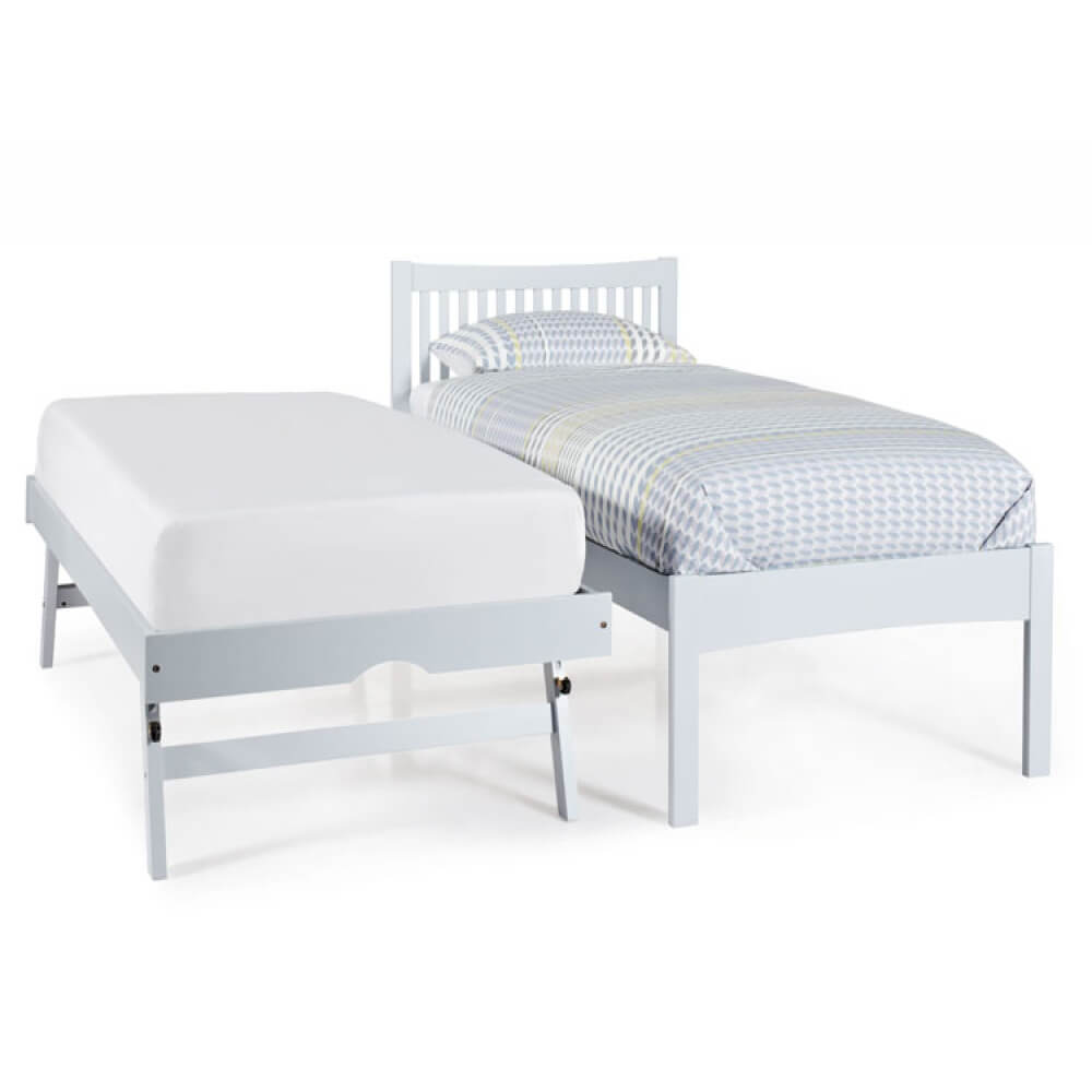 Mya Wooden Bed & Guest Bed Grey 3