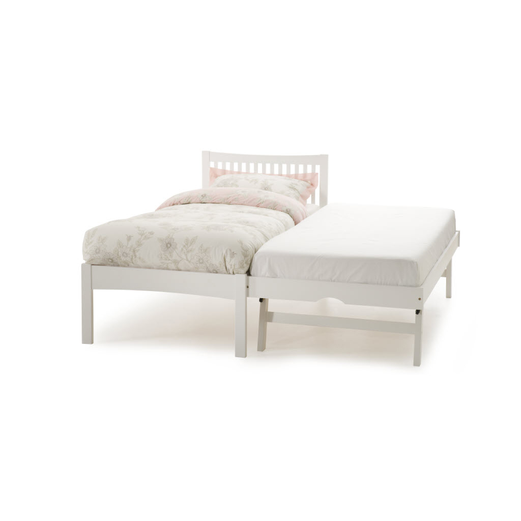 Mya Wooden Bed & Guest Bed White 1