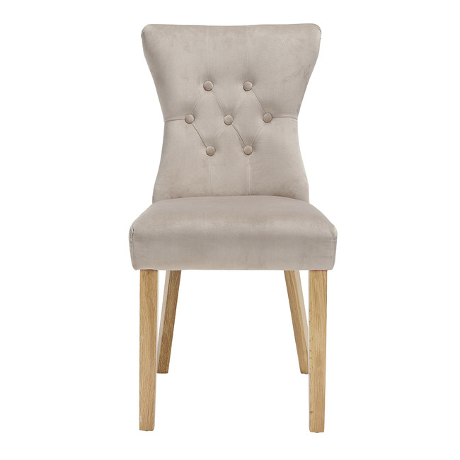 Naples Dining Chairs Linen Fabric (Pair) (Chair Colour: champagne)
