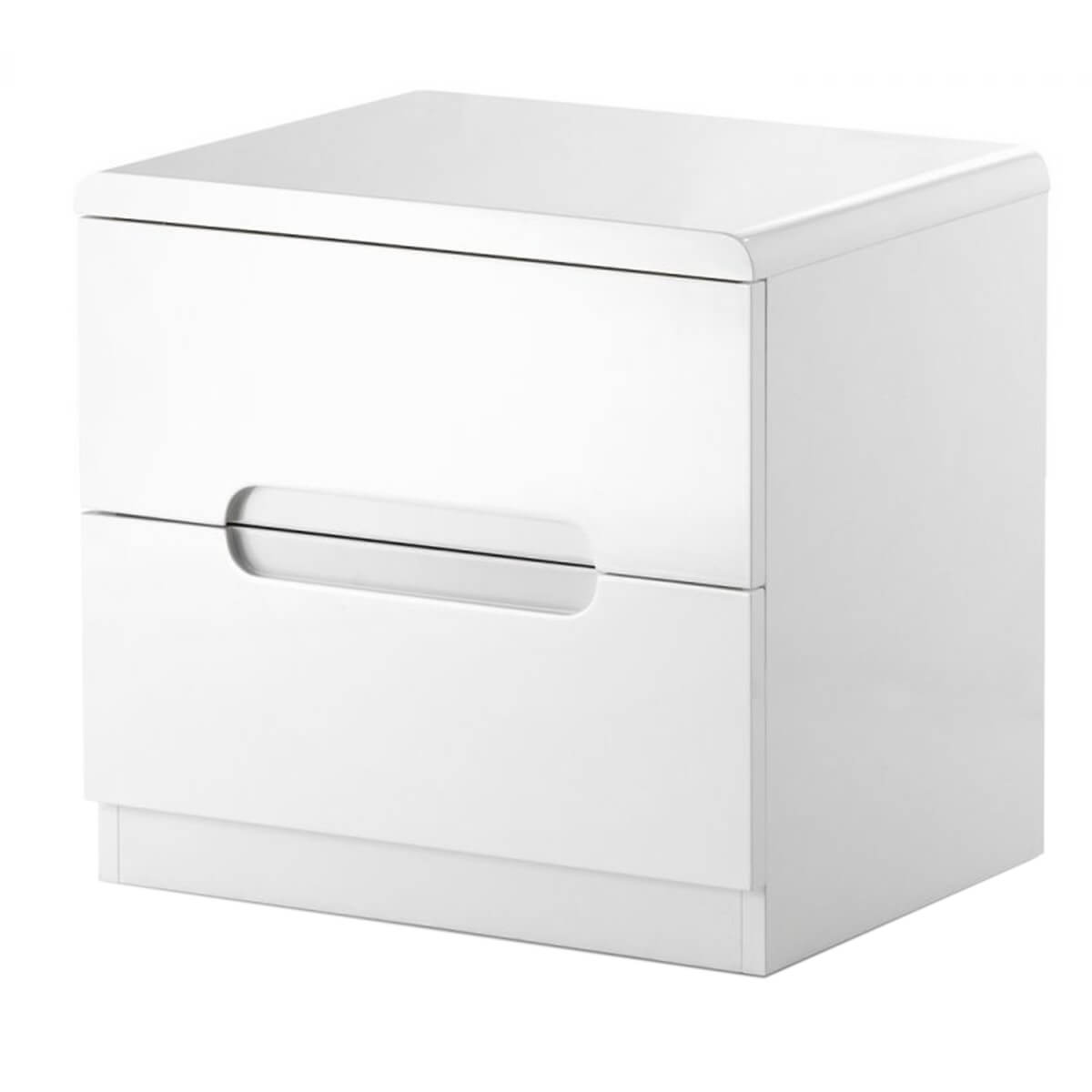 New york white high gloss bedside table 2 drawer bedsides fads new york bedside table white high gloss 2 drawer watchthetrailerfo