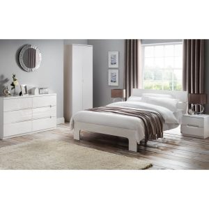 New York Bed Frame White High Gloss 2