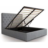 Nova Grey Linen Ottoman Bed 3
