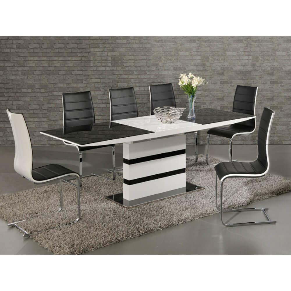 Nusa Black & White Dining Set