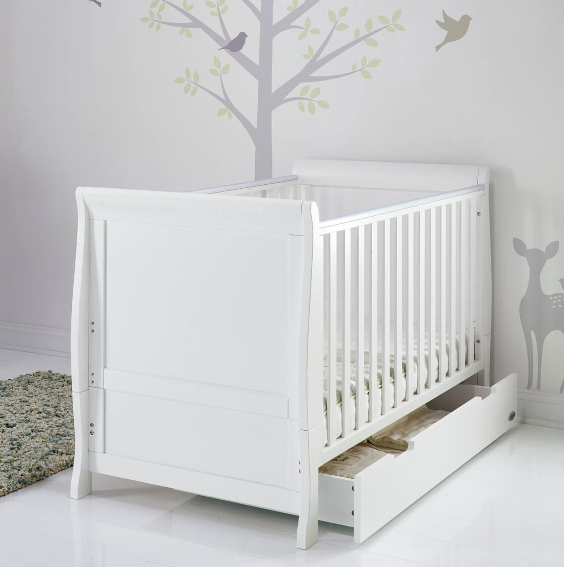 Obaby Stamford Cot Bed White 4