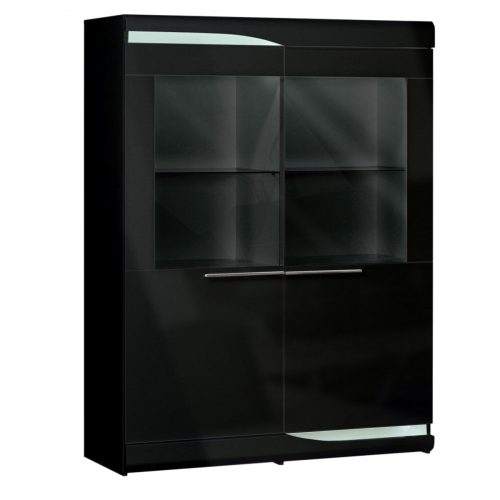 Ovio Display Cabinet Black Gloss
