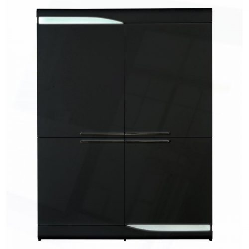 Ovio Storage Unit Black 4 Door