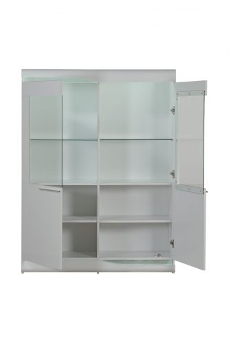 Ovio White Gloss Display Cabinet 1