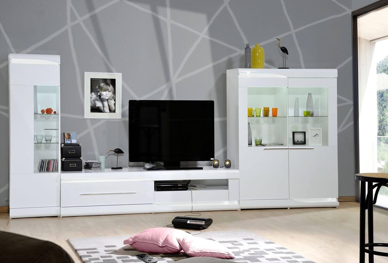 Ovio White Gloss Display Cabinet Modern Furniture Fads # Meuble Tv Ovio