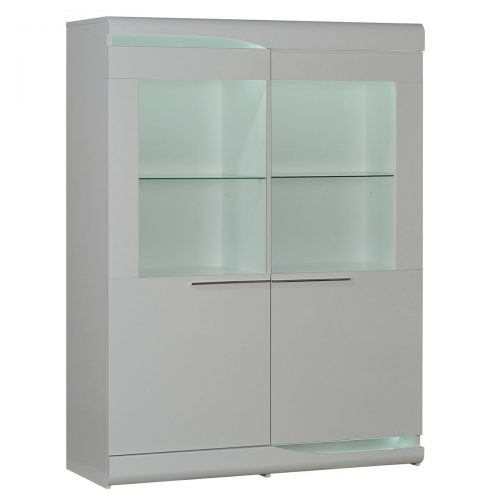 Ovio White Gloss Display Cabinet