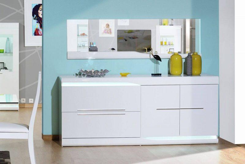 Ovio White Gloss Sideboard with LED Lights 2