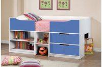 Paddington Kids Single Cabin Bed With Storage Blue & White 3