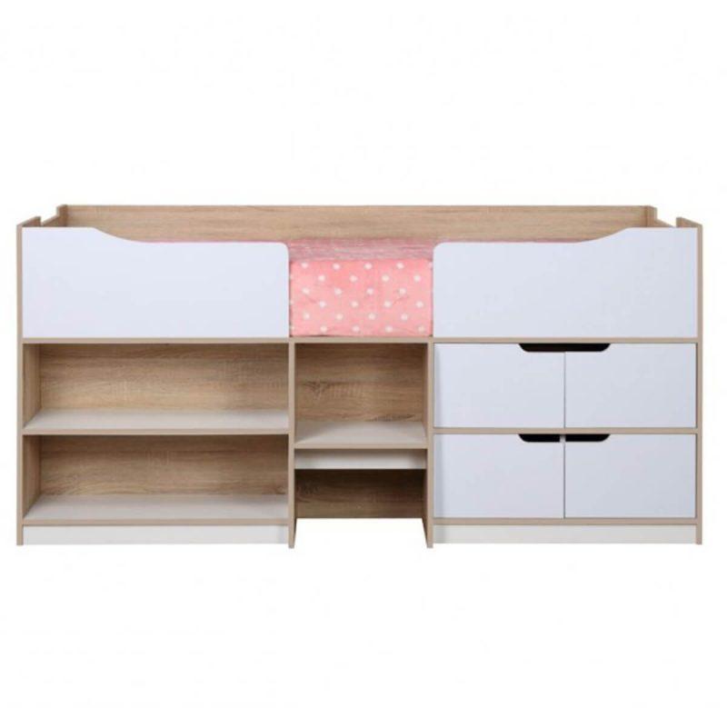 Paddington Single Cabin Bed With Storage Oak & White
